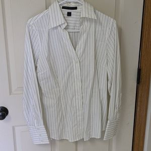 Express button down fitted dress shirt, Size L